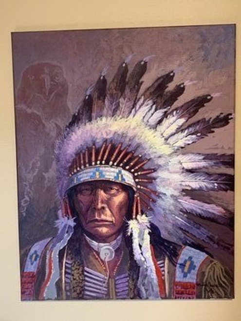 Chief White Bear by Michael Lonechild.