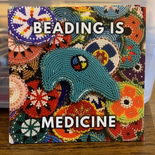 Beading is Medicine  sticker
