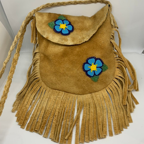 Moosehide fringe purse