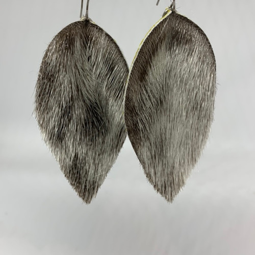 Seal skin earrings