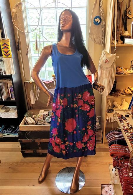 Royal Blue Kokum Scarf Dress with Dark Blue Top