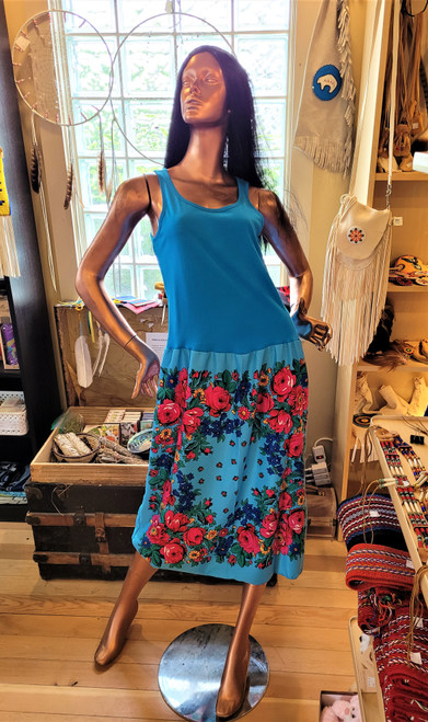 Light Blue Kukom Scarf Skirt