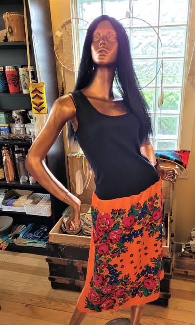 Orange Kokum Scarf Dress