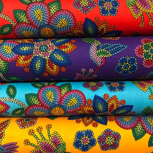 Hummingbird Beaded Fabric