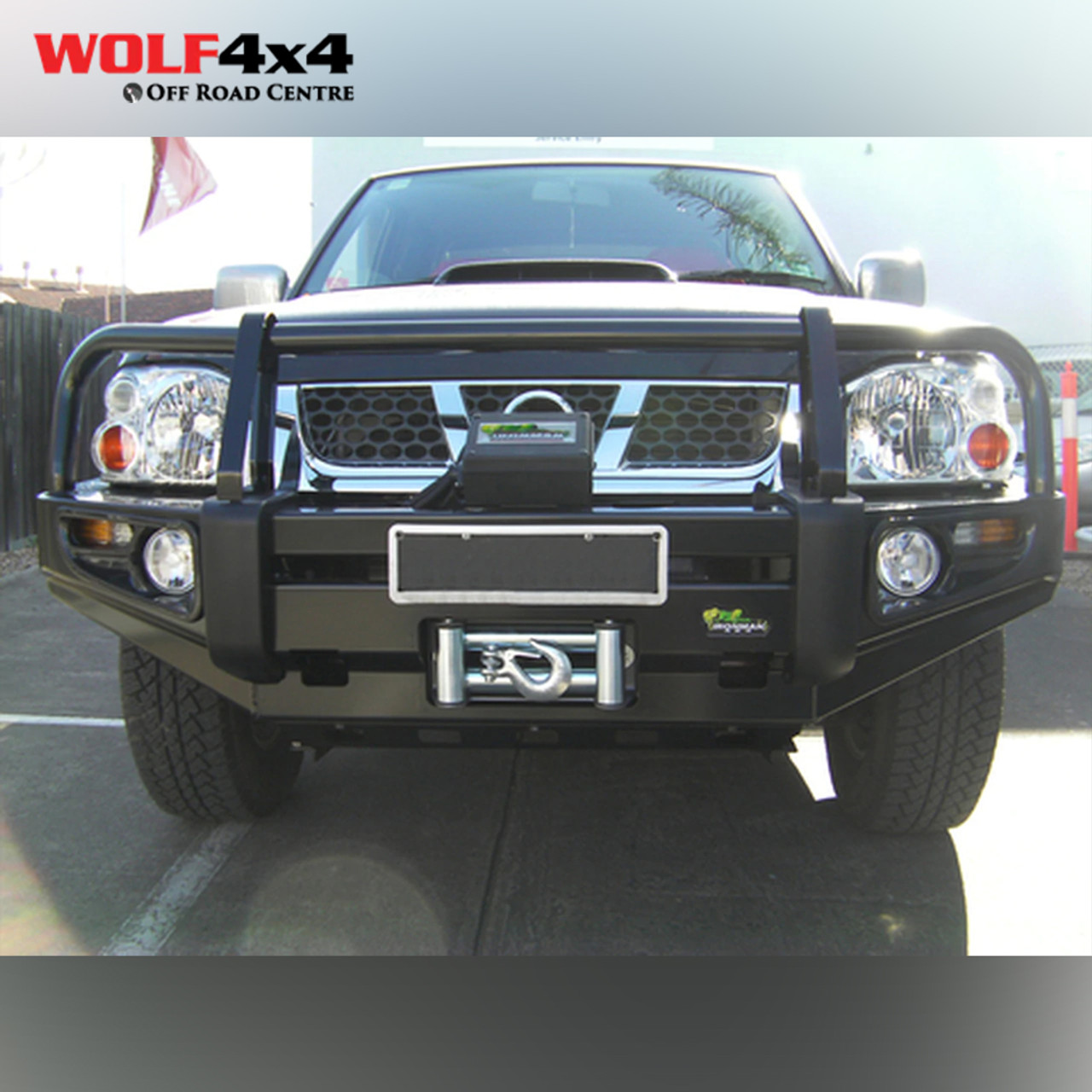 Ironman 4x4 Deluxe Commercial Bull Bar Nissan Navara D22 2002 2014 Wolf 4x4 North Lakes