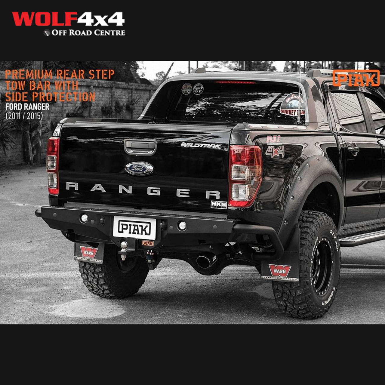 Piak Premium Rear Step Towbar With Side Protection Ford Ranger Px Px2 Px3 2011 Current Mazda Bt 50 2011 2020