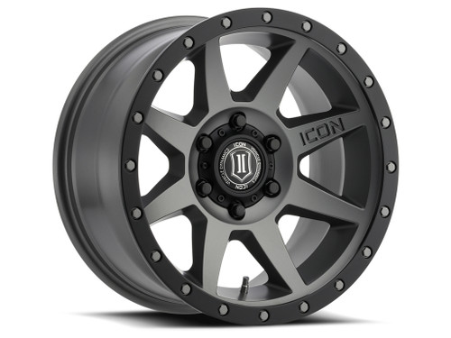 ICON Alloys Rebound 17x8.5 Titanium Matte 5x150 +25mm offset