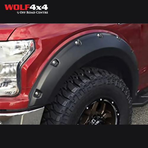 Bushwacker Black Pocket Style Smooth Finish 4-Piece Fender Flare Set for 2018-2019 Ford F-150