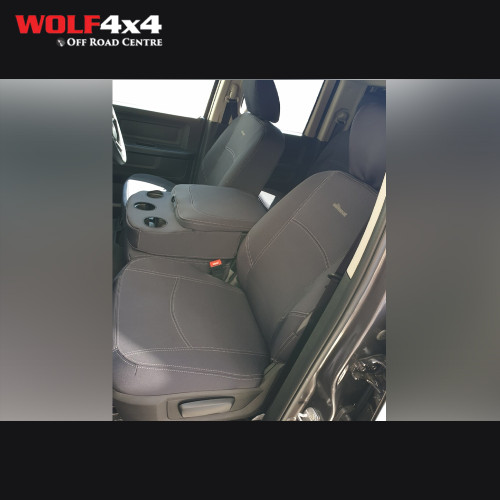 The Wet Seat -  Ram 1500 Express (Locked Middle seat in Front row) Neoprene Seat Cover 2015 On (Front)