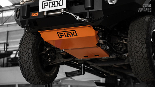 PIAK Underbody Protection Plate - Orange Powder Coat - Mitsubishi Triton MQ (2015 - 2018)