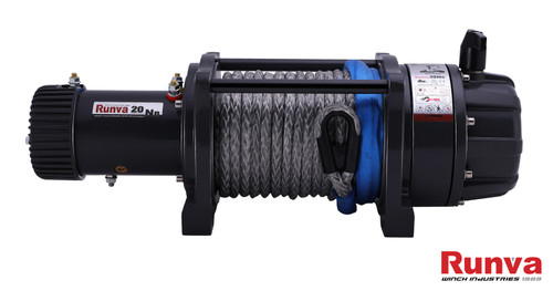 Runva Winch EWB20000 PREMIUM 12V with Synthetic Rope - full IP67 protection