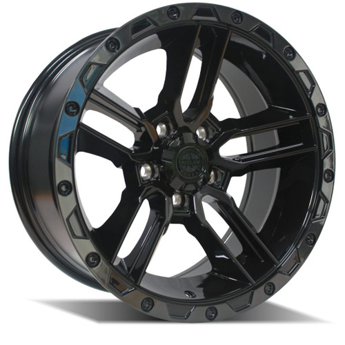 American Outlaw Railcar 5 Gloss Black / Tinted Lip 17x8.5 5x120 ET5+ Offset 1134KG Load Rating