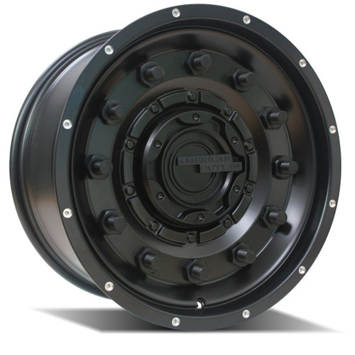 American Outlaw Dusty Road  Satin Black 17x8.5 6x139.7 ET0+ Offset 1134KG Load Rating