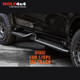 PIAK Off Track Side Steps - Checker Plate Black Anodized - Mitsubishi Pajero Sport QE (2015 - Current)