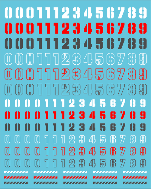 Decal Number Mix