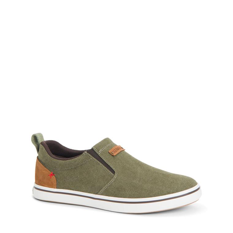 XTRATUF Men's Canvas Sharkbyte Deck Shoe (Green)
