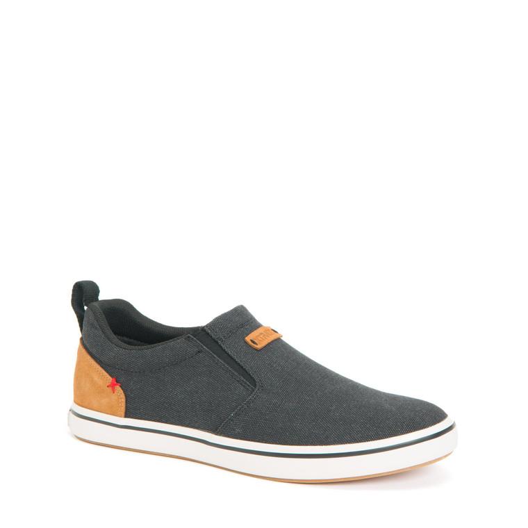 XTRATUF Men's Canvas Sharkbyte Deck Shoe (Black)
