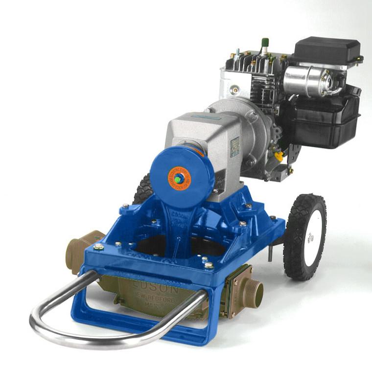 120 Single Diaphragm Gas Pump Cart Mount- Bronze (120GWB-200)