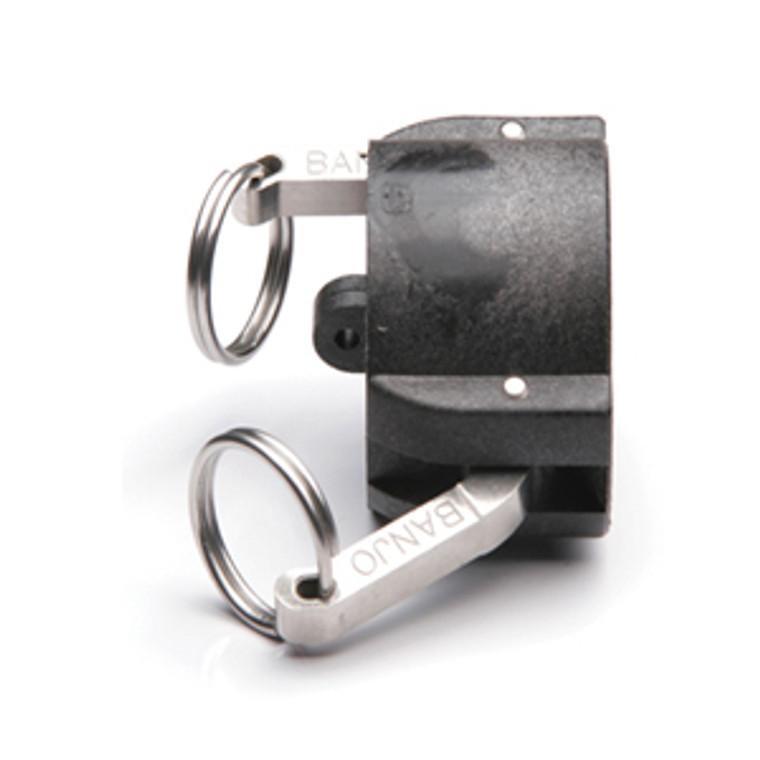 "Quick Clamp Cap - 1.5"" Female QC - Polypropylene (155QC-150NY)"