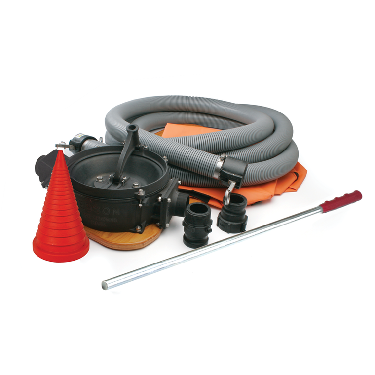 "Aluminum Manual Portable Pump Kit 30 GPM with Bag and Sta-Plug (1.5"" Intake/Discharge) (165AL-30-1.5KIT)"