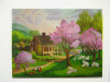 SPRINGTIME FARM SHEEP ORIGINAL After Currier and Ives SOLD