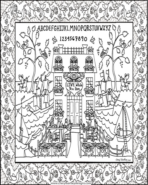 Faith Love Hope Joy FREE Coloring Craft Page