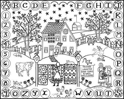 Penny Rug Lady FREE Coloring Craft Page