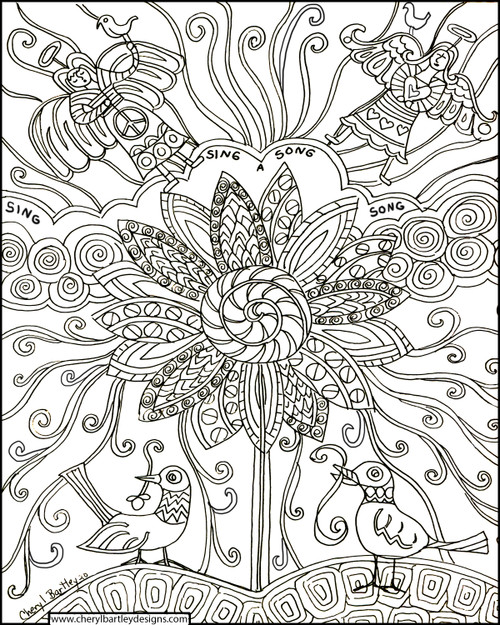 Sing Song FREE Coloring Craft Page