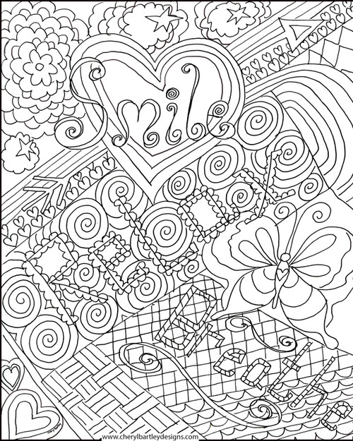 Smile Relax Breathe FREE Coloring Craft Page