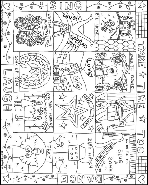 Take Time FREE Coloring Craft Page