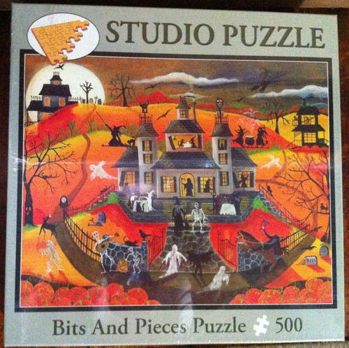 Calling ALL SPOOKABLES Folk Art Puzzle Bits and Pieces