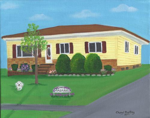 Maher House 4 Custom Folk Art Painting