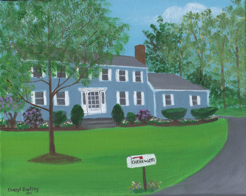 Maher House 3 Folk Art Custom House Painting