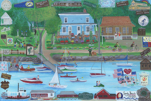 Grabowski House Memories on Bantam Lake Custom Painting