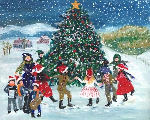 ROCKING AROUND THE CHRISTMAS TREE 12x16 PRINT