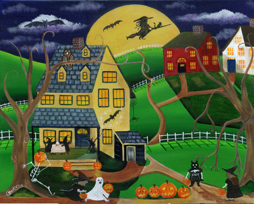 Halloween Custom Acrylic painting