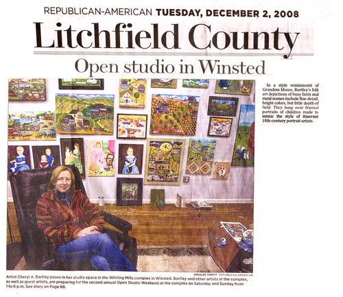 News Paper Litchfield County Art Review