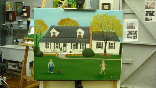 Murdock House Custom Folk Art Painting
