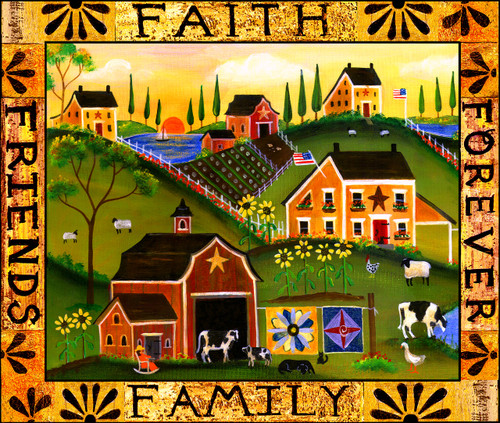 Faith Family Friends Door Mat Design