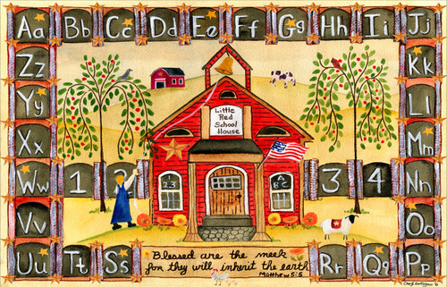 Little Red School House Place mat