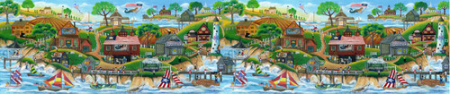 Mermaid village wallpaper