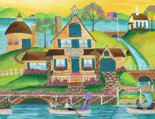 Rosies Place in the Sun Original  Folk Art Painting