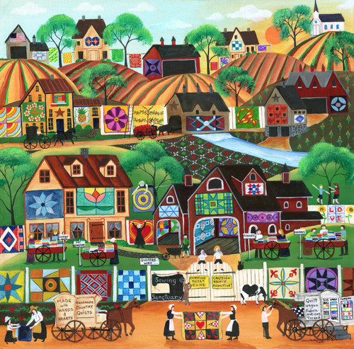 Quilters Way Folk Art Painting SOLD