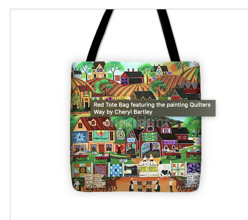 Quilters Way Tote Bag 18x18