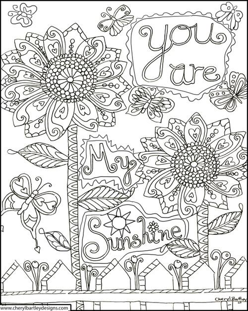 You Are My Sunshine - Folk Art Paintings By Cheryl Bartley