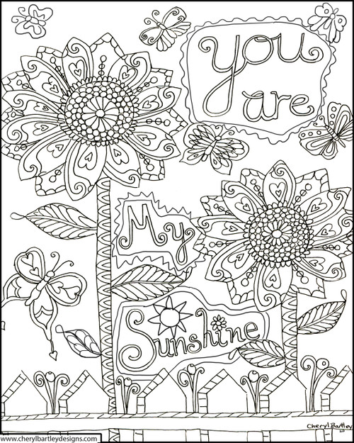 You are My Sunshine FREE Coloring Page