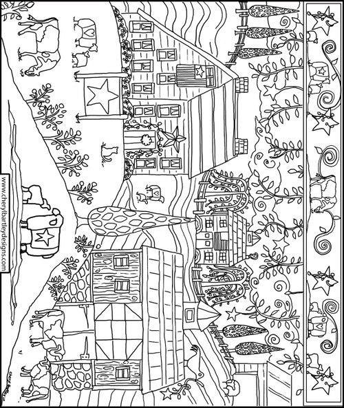 Family Farm FREE Coloring Craft Page