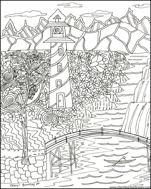 Lighthouse FREE Coloring Craft Page