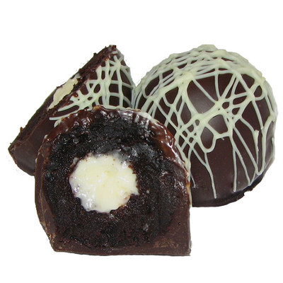 Our Decadent Chocolate Ganache Is Filled With The Lightest Creamiest Vanilla Italian Buttercream All Birthday Cake Dessert Truffle