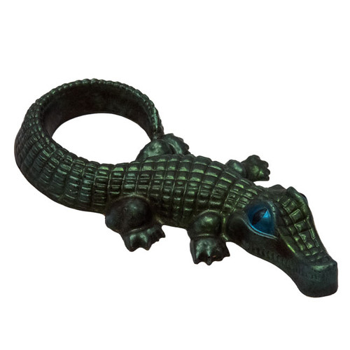 Our milk chocolate alligators measures 11 inches long from nose to tail and is Hand-Crafted.